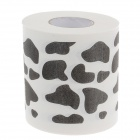 Novelty Cow Spots Pattern Toilet Paper 3-Layer Roll Tissue - White + Black