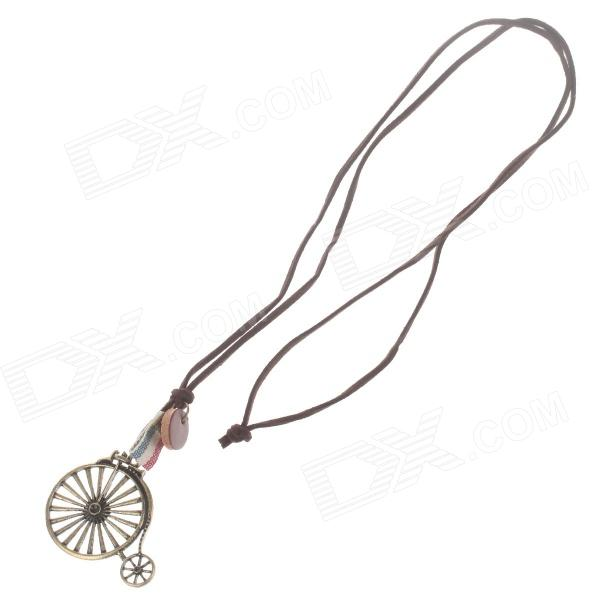Fashionable Zinc Alloy Wheel Style Necklace for Women - Bronze + Brown