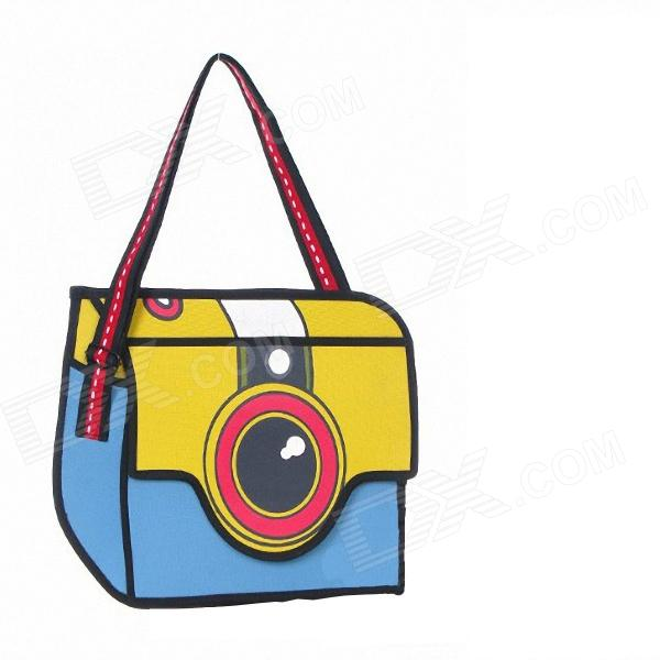 3D2345 Three Dimensional Single Shoulder Bag - Yellow + Blue