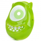 Cute Plastic Party Mask - Green + White