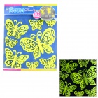 01 3D Butterfly Style Glow-in-the-Dark Sticker for Room Decoration - Fluorescent Yellow