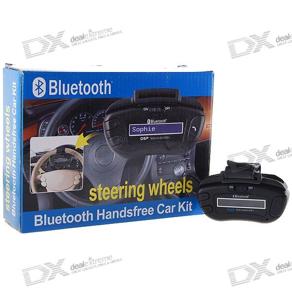 Steering Wheel Mount Bluetooth Hands Free Car Kit with Caller ID Display