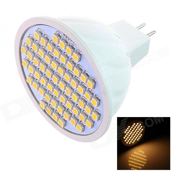 GCD D28 GX5.3 MR16 5W 250lm 2500K 60SMD3528 LED Warm White Light Lamp Bulb - White (AC 12V)