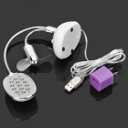USB Powered 13-LED White Eye-Protection Table Light + Dual-Blade Fan - White + Silver