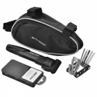 SAHOO 21255 Convenient Repair Tool Kit Set w/ Bicycle Pump for Bike - Black
