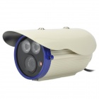 AL-860S 1/3 COMS 700TVL Outdoor Digital Video Camera w/ 2-IR LEDs - Beige + Blue