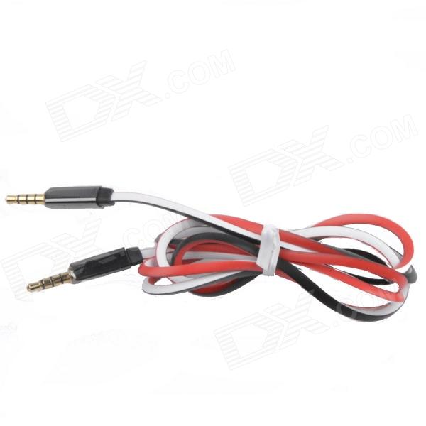3.5mm TRRS Male to Male Audio Triangle Cable - Red + White + Black (120cm)