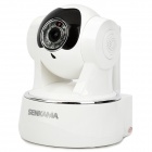 SENKAMA N622W 720P 1.0MP HD Wireless IP Network Camera w/ Wi-Fi / 10-IR LED / TF / Mic - White