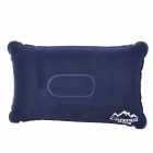 Creeper YX-1351 Travel Flocking Inflatable Pillow - Dark Blue