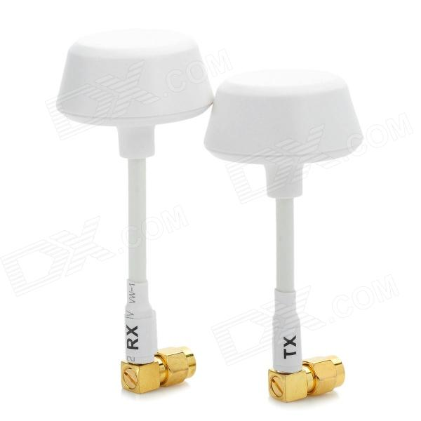 GX-A58-001 SMA Male Omni-directional 5.8G TX / RX Antennas Set - White + Golden