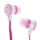 Stylish In-Ear Earphones w/ Microphone for Iphone / Samsung - Deep Pink (3.5mm Plug / 112cm-Cable)