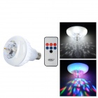 UltraFire 188 E27 8W 5 RGB LEDs Voice Control Spinning Stage Light - White + Silver (85v ~ 260v)