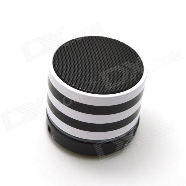S11 Bluetooth V3.0 Stereo Speaker w/ Microphone / Mini USB / TF - White + Black