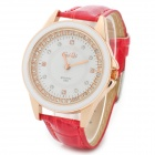 Stylish Women's Quartz Analog Wrist Watch - Red + White + Golden (1 x 337)