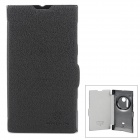 NILLKIN Fresh Series Protective PU Leather + PC Case for Nokia Lumia 1020 - Black