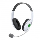 XBOXHS20 Stylish Stereo Headphones w/ Microphone for Xbox 360 - White (2.5mm Plug / 1.2m)