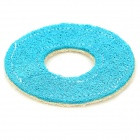 Pet Loofah Sponge Tooth Cleaning Toy - Blue + White