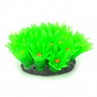Rubber Artificial Soft Coral Decoration for Fish Tank - Green