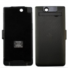 "External ""5000mAh"" Battery Back Case w/ Stand for SONY L39H Xperia Z UItra - Black"
