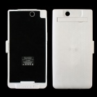 "With stand function ""5000mAh"" Battery Back Case for SONY L39H Xperia Z UItra - White"
