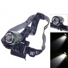 T013 Cree XM-L T6 900lm 3-Mode White Bicycle Light / Headlight - Black + Blackish Green (4 x 18650)