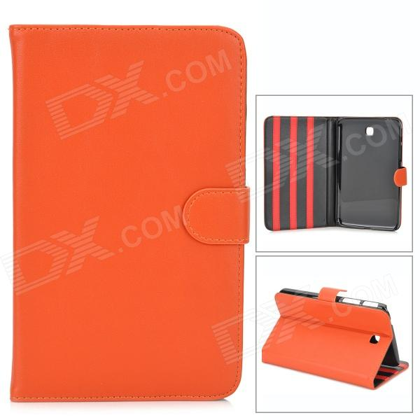 Protective Glossy PU Leather Flip Case for Samsung Galaxy Tab3 T210 - Orange floveme luxury flip stand case for samsung galaxy tab3 10 1 p5200 tab3 pu leather protective cover pouch bag black for tab 3