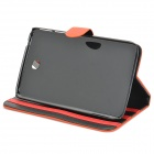 Protective Glossy PU Leather Flip Case for Samsung Galaxy Tab3 T210 - Orange