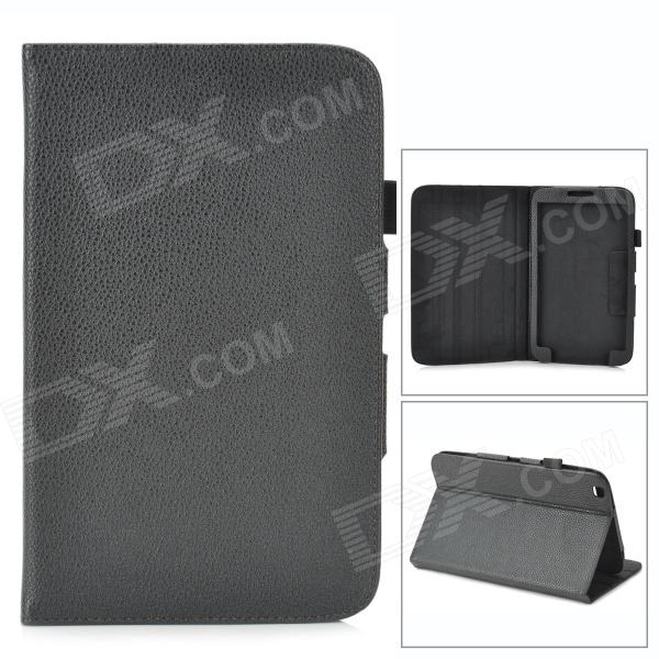 Protective Lychee PU Leather Flip Case for Samsung Galaxy Tab 3 8.0 T310 - Black floveme luxury flip stand case for samsung galaxy tab3 10 1 p5200 tab3 pu leather protective cover pouch bag black for tab 3