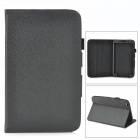 Protective Lychee PU Leather Flip Case for Samsung Galaxy Tab 3 8.0 T310 - Black