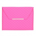 Checked Style Protective PU Leather Inner Bag for Ipad 2 / 3 / 4 - Deep Pink