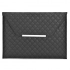 Checked Style Protective PU Leather Inner Bag for Ipad 2 / 3 / 4 - Black