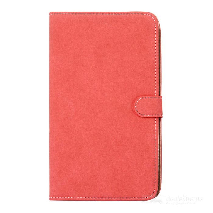 Protective Glossy PU Leather Flip Case for Samsung Galaxy Tab3 T210 - Red floveme luxury flip stand case for samsung galaxy tab3 10 1 p5200 tab3 pu leather protective cover pouch bag black for tab 3
