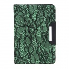 Protective PU Leather Case Cover Stand w/ Auto-Sleep / Lace for Ipad MINI - Green + Black