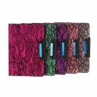 S1774101 Protective PU Leather Case Cover Stand w/ Auto-Sleep / Lace for Ipad MINI - Pink + Black