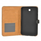 Protective PU Leather Flip Open Case for Samsung Tab 3 T210 / P3200 - Black