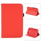 Lychee Grain Style Protective PU Leather Case for Samsung Galaxy Tab 3 T210 - Red