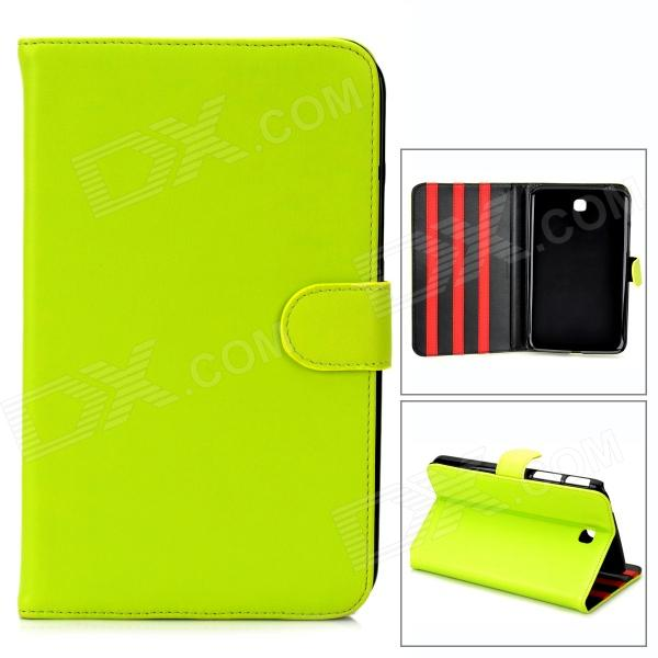 Protective Glossy PU Leather Flip Case for Samsung Galaxy Tab3 T210 - Green-Yellow floveme luxury flip stand case for samsung galaxy tab3 10 1 p5200 tab3 pu leather protective cover pouch bag black for tab 3