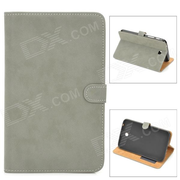 Protective PU Leather Flip Open Case for Samsung Tab 3 T210 / P3200 - Grey tribal lines 360 rotating leather case for samsung t210 galaxy tab 7 0 3 p3200 green white