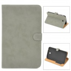 Protective PU Leather Flip Open Case for Samsung Tab 3 T210 / P3200 - Grey