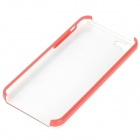 Stylish Protective Plastic Back Case for iPhone 5c - Red + Transparent
