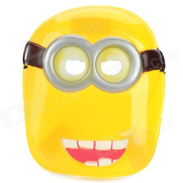 Cute Plastic Face Mask for Party - Yellow
