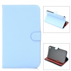 Protective PU Leather Case for Samsung Galaxy Tab 3 8.0 T310 - Light Blue