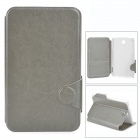 "Protective PU Leather Flip Case for Samsung Galaxy Tab 3 7"" P3200 T210 - Grey"