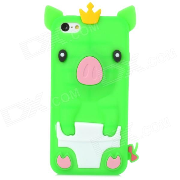 все цены на  Crown Pig Style Protective Silicone Back Case for Iphone 5C - Green  онлайн