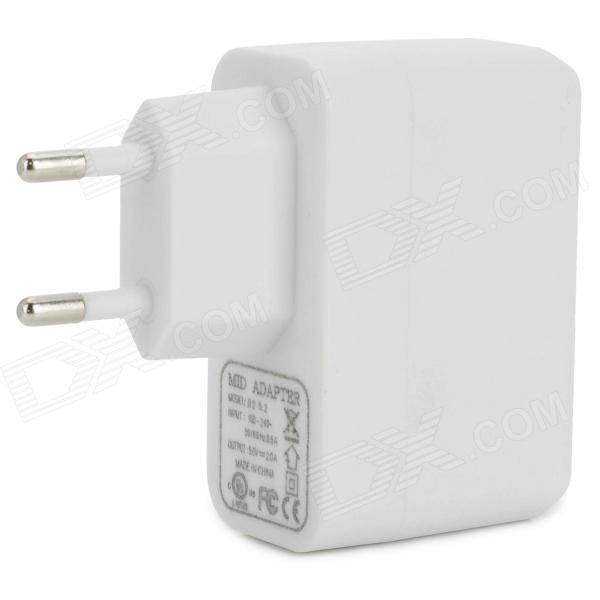 USB Power Adapter / Charger for Samsung Galaxy Tab 3 8.0 / T310 + More - White (100~240V/EU Plug)