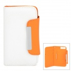 ZS004 Protective PU Leather Case for Iphone 5 / 5s / 5c - White