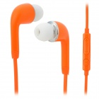 Stylish In-Ear Earphone w/ Microphone for Samsung i9500 / i9300 - Orange