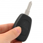 029334 2-Button Remote Key Case for Renault - Black + Silver