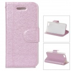 Stylish Protective PU Leather + PC Case for Iphone 5C - Pink