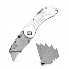 R'DEER RT-425 Aluminum Alloy + Stainless Steel Folding Knife Tool w/ 5-Blade - Silver